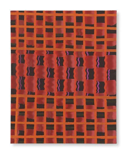 Beverly Acha, 'Untitled (red-orange grid)', 2017