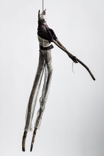 Elizabeth Jordan, 'Sculpture of hare suspended from chain: 'Children 5'', 2020