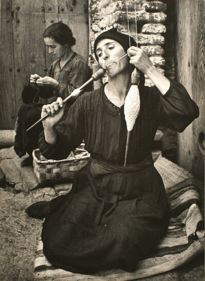 W. Eugene Smith, 'Spanish Village, The Spinner', 1950