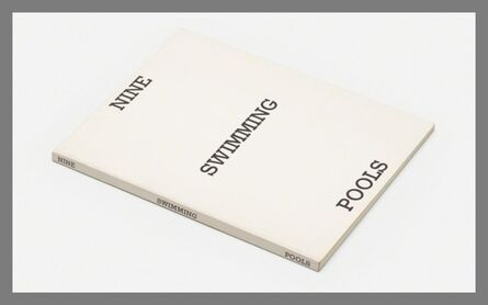 Ed Ruscha, 'Nine Swimming Pools and a Broken Glass (HAND SIGNED)', 1976