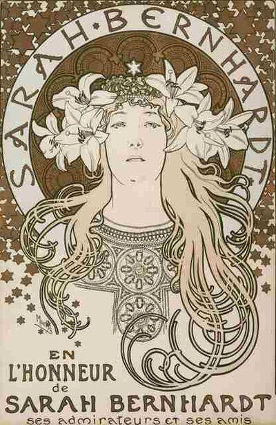 Alphonse Mucha, 'En l'Honneur de Sarah Bernhardt', 1896