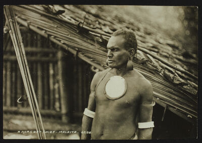 John Watt Beattie, 'A Roas bay chief - Malaita - Solomons'