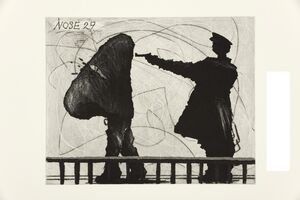 William Kentridge, 'Nose 29', 2009