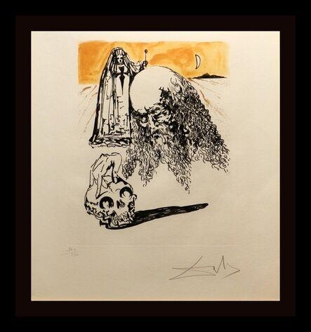 Salvador Dalí, 'La Vida es Sueno Viellard a la tete de Mort', 1973