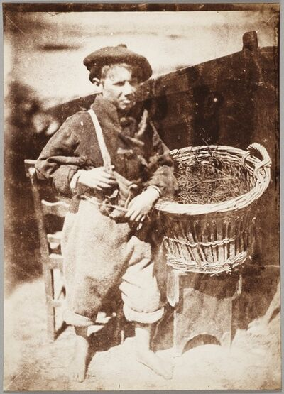 "Hill & Adamson, 'Newhaven boy, ""Little King Fisher""', 1843–1847"