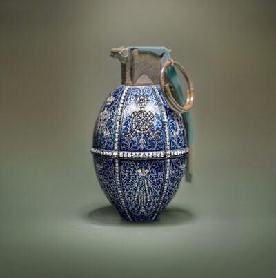 David Krovblit, 'Faberge Grenade - Blue with diamonds', 2019
