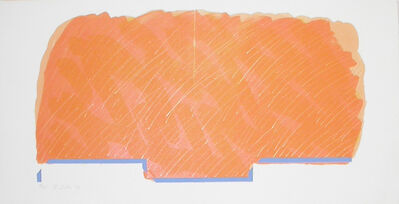 Richard Smith (1931-2016), 'Horizon I (orange with blue base)', 1970
