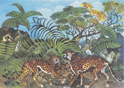 Antonio Ligabue, 'Leopardi nella foresta', 1962