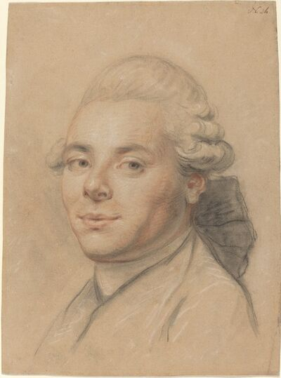 Joseph Ducreux, 'Head of a Gentleman [recto]', 1770/1780