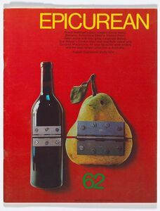 Les Mason, 'Epicurean Magazine Cover Design August-September ', 1976