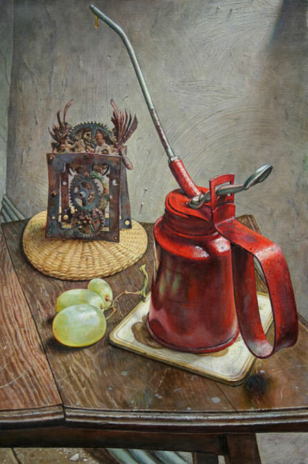 Michael Taylor (b. 1952), 'Petrified Clock with Oil Can ', 2014