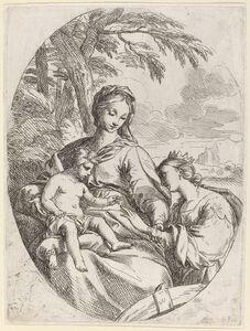 Carlo Maratti, 'The Mystic Marriage of Saint Catherine'