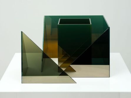 Larry Bell, 'Deconstructed Cube SS with Duolith', 2020