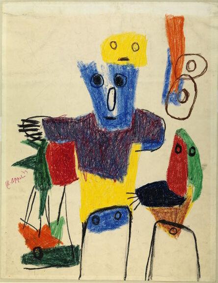 Karel Appel, 'Enfants quémandant', 1949