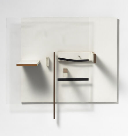 Victor Pasmore, 'Abstract in White, Black and Natural Wood', 1960-1961