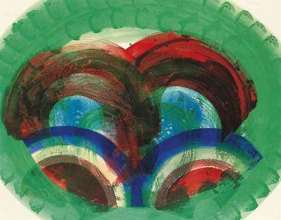 Howard Hodgkin, 'Red Palm (With Hand coloring)', 1987