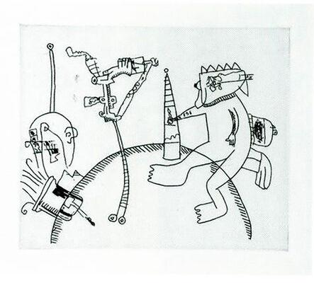 Keith Haring, 'Untitled (with Sean Kalish) J', 1989