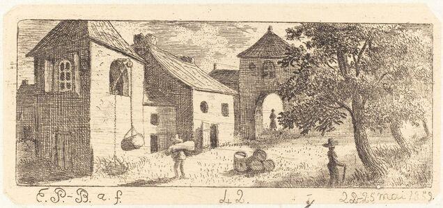 Emmanuel Phélippes-Beaulieu, 'The Farmyard', 1859