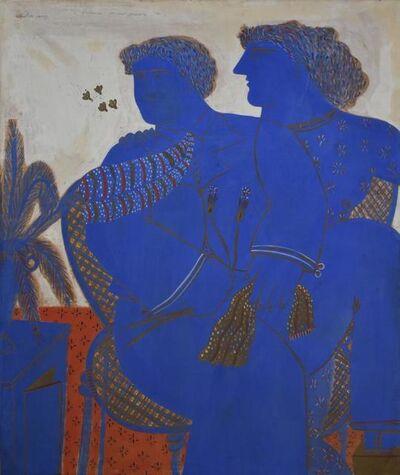Alekos Fassianos, 'Man in love with tie', 1980