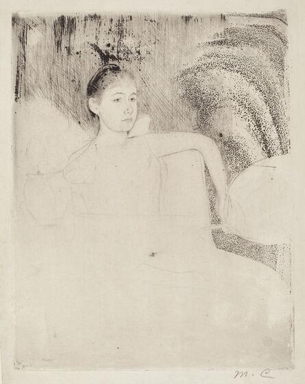 Mary Cassatt, 'Mimi Holding a Japanese Fan', ca. 1889