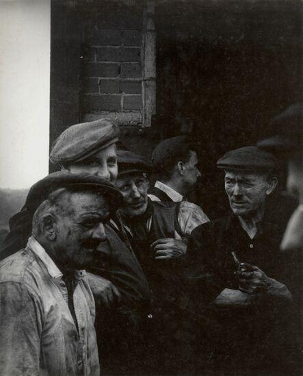 John Cohen, 'Miners Standing Outside During Break, Littlebourne, Kent', 1955