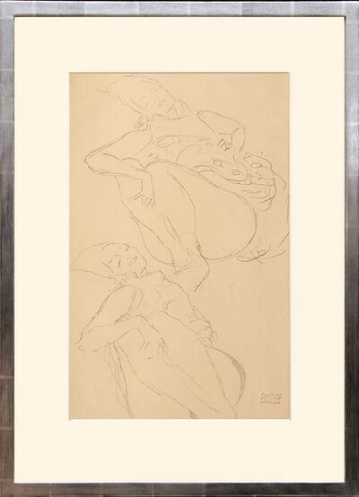 Gustav Klimt, 'Zwei weibliche Akte, liegend. Two Female Nudes, Lying.', 1919