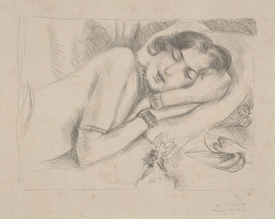 Henri Matisse, 'Figure endormie aux babouches (Sleeping Figure with Slippers)', 1929