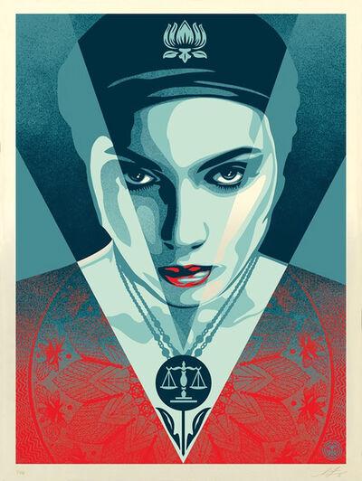 Shepard Fairey, 'Justice Women - Blue Edtion', 2021