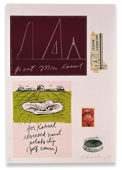 Claes Oldenburg, 'Notes (Kassel)', 1968