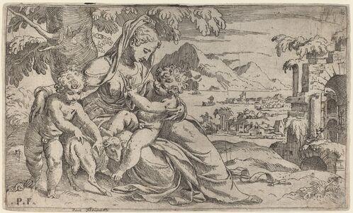 Orazio Farinati after Paolo Farinati, 'Madonna and Child with John the Baptist', 1590s