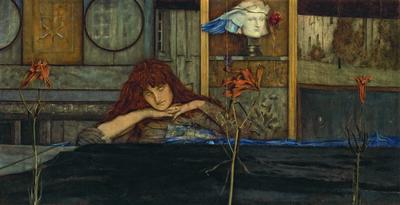Fernand Khnopff, 'I Lock My Door Upon Myself', 1891