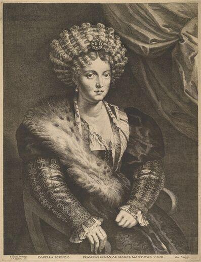 Lucas Emil Vorsterman after Sir Peter Paul Rubens, 'Isabella d'Este'