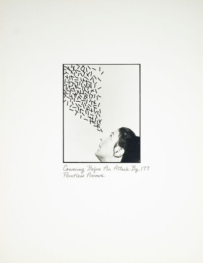 Roberta Allen, 'Cowering Before An Attack By 177 Pointless Arrows', 1976