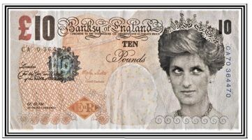 """Banksy, 'The """"Di-Faced Tenner"""" + his hand-signed COA', 2004"""