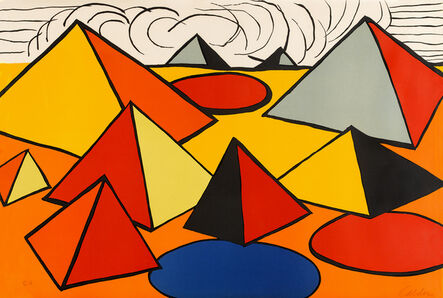 Alexander Calder, 'Composition with Pyramids, Circles and Clouds', 1970