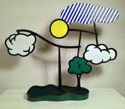 Roy Lichtenstein, 'Landscape Mobile (Limoges)', 1990