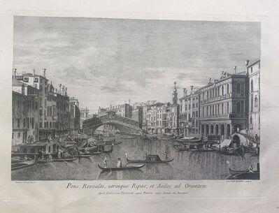 Giovanni Battista Brustolon after Canaletto, 'Prospectuum Aedium Viarumque Insignorum Ubis Venetiarum', 1763