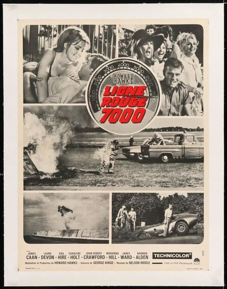 Anon, 'RED LINE 7000 linen backed  French Movie Poster directed by Howard Hawks, different car racing images!', 1965