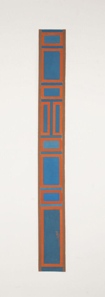 Chant Avedissian, 'B1 - Mamluk wooden door patterns, squares in blue', 2016