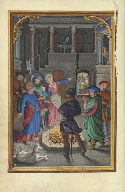 Simon Bening, 'The Denial of Saint Peter', 1525-1530