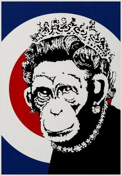 Banksy, 'Monkey Queen ', 2003