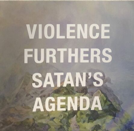 Diana Wege, 'Reject Violence', 2017