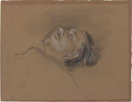 """Edgar Degas, 'Head of the Fallen Jockey (study for """"Scene from the Steeplechase: The Fallen Jockey"""")', ca. 1866"""