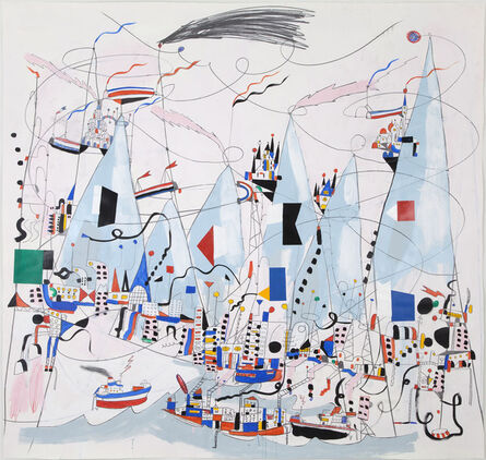 Nathan Carter, 'A forty foot rogue wave crashed sideways over the floating cargo docks', 2013