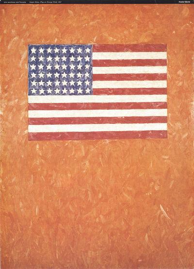 Jasper Johns, 'Flag On Orange Field', 1996