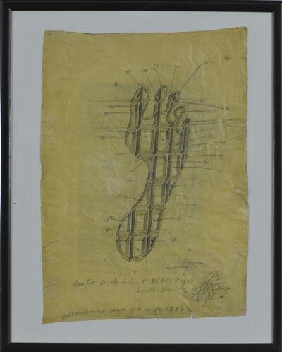 Paul Neagu, 'Human Foot. 31 Cells', 1973