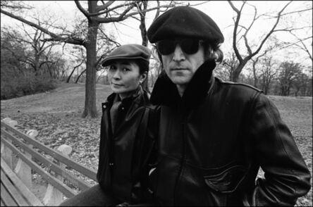 Allan Tannenbaum, 'John and Yoko on a bench in Central Park', 1980