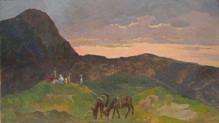 Giovanni Marchini, 'Sosta al tramonto', 1930