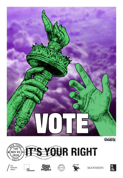 Ron English, 'New York Get Out The Vote Poster by Ron English', 2020