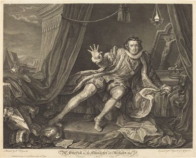 William Hogarth and Charles Grignion, 'Garrick in the Role of Richard III', 1746